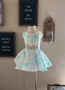 Mint Mickey Panel Romper