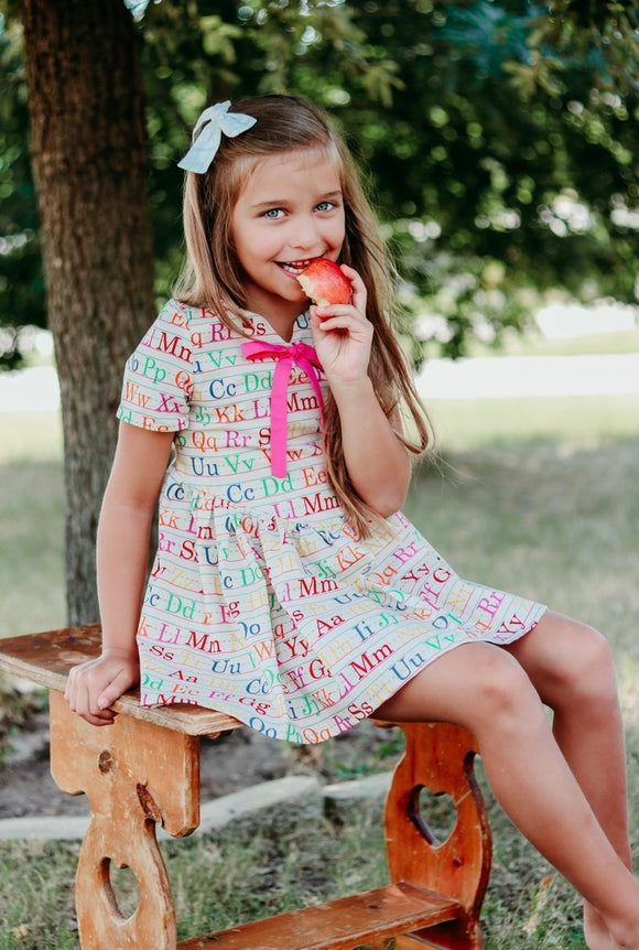 Back to school ABC dress