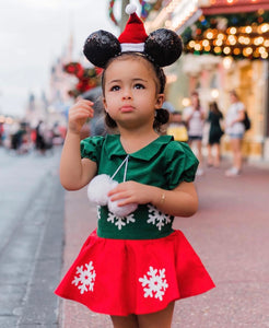 Disney Mickey dress with poms