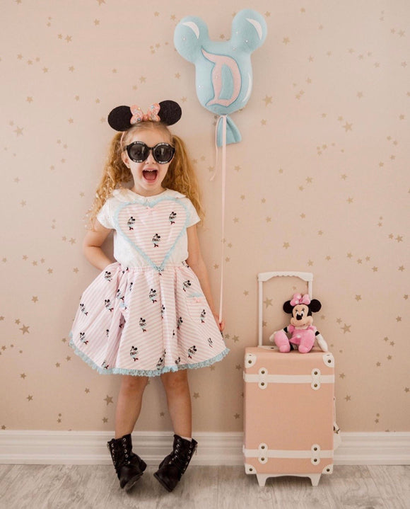 Minnie heart pinny