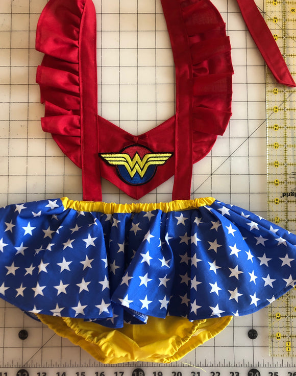 Wonder Woman Skirted Panel Romper