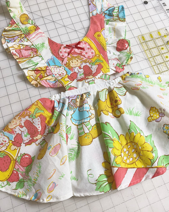 Vintage strawberry shortcake pinafore
