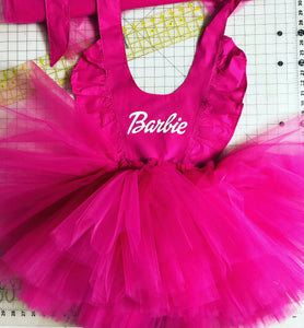 Tulled up Barbie pinny