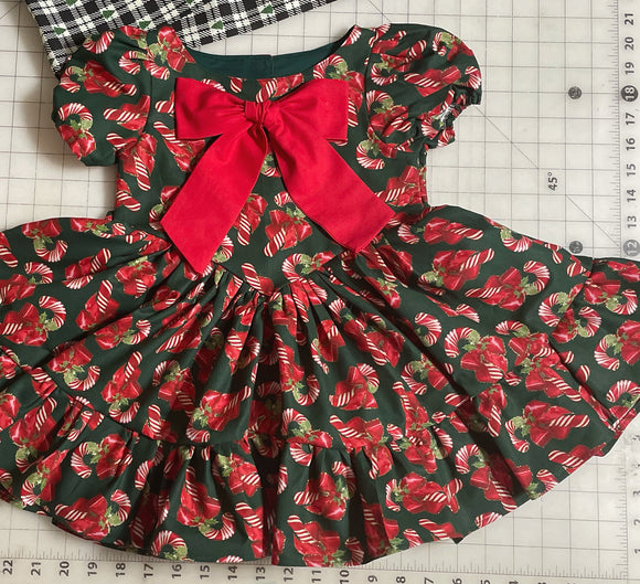 Candy canes dress set