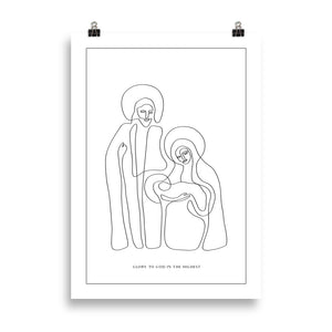 The Nativity Print (bare) | Large