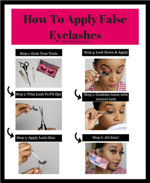 How To Apply Eye Lashes for Beginners!