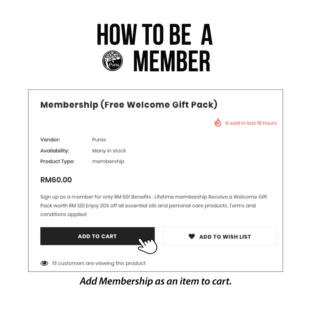 Puras Membership (Free Welcome Gift Pack)