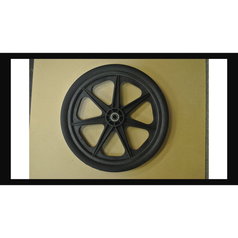 "24"" NYLON WHEEL ASSEMBLY WITH COLLAR"