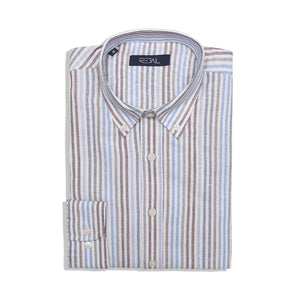 lenin cotton strip shirt