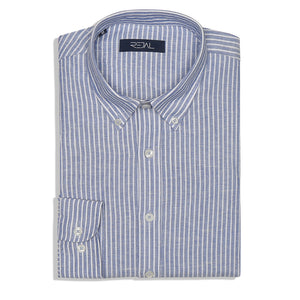 linen cotton strip shirt