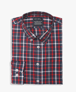 Cotton Shirt Checks Blue Red