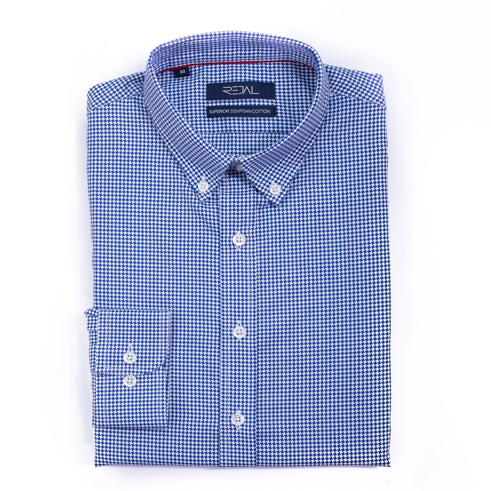 Classic Cotton Shirt Navy Dobby