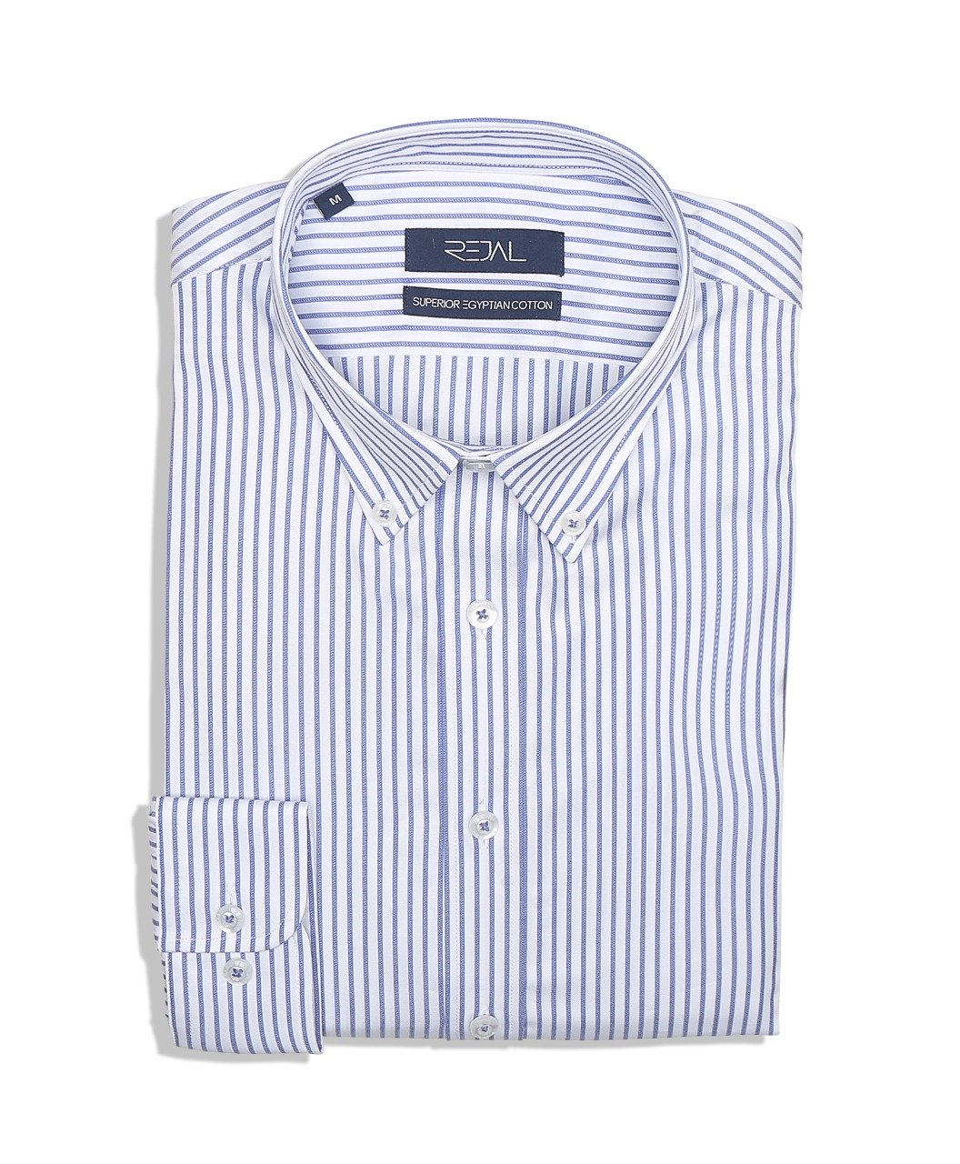 Classic Cotton Shirt L.Blue Stripe