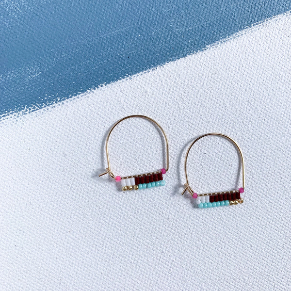 LITTLE PAINTBRUSH HOOPS, CRANBERRY