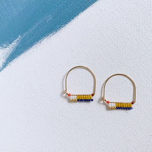 LITTLE PAINTBRUSH HOOPS, SAFFRON