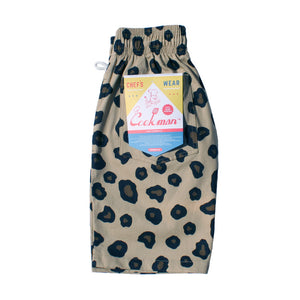 Cookman Chef Short Pants - Big Leopard