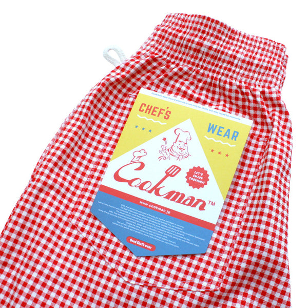 Cookman Chef Short Pants - Gingham : Red