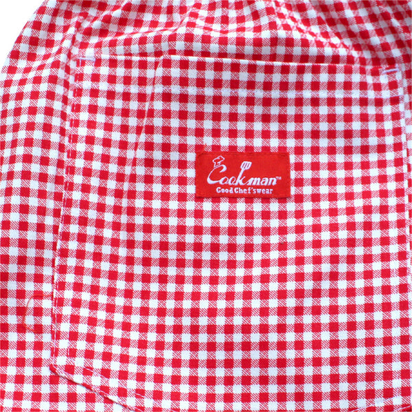 Cookman Chef Short Pants - Gingham Red
