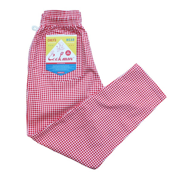 Cookman Chef Pants - Gingham Red