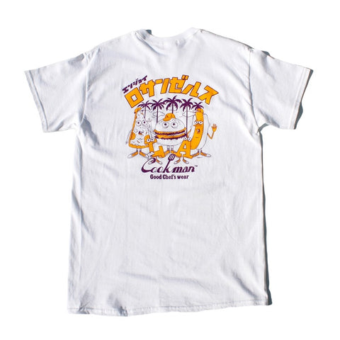 Cookman T-shirts - TM-001-LosAngeles - White