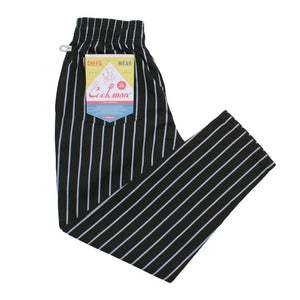 Cookman Chef Pants - Stripe : BLACK