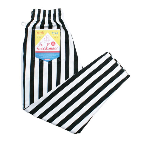 Cookman Chef Pants - Wide Stripe : Black
