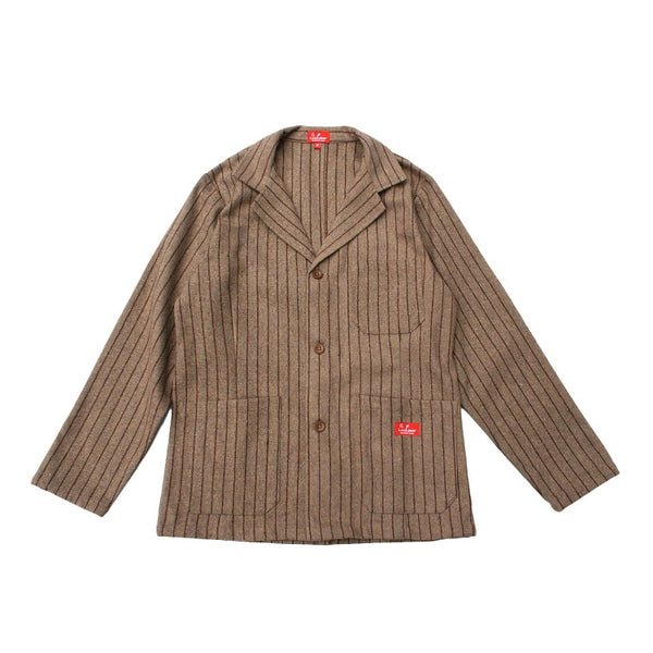 Cookman Lab Jacket - Wool mix Stripe Beige