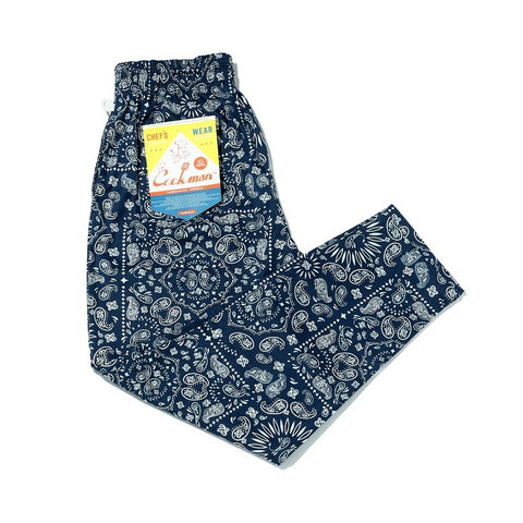 Cookman Chef Pants - Paisley Navy