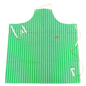 Cookman Long Apron - Pinstripe Green