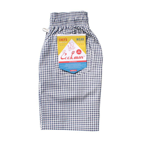 Cookman Chef Short Pants - Gingham Navy