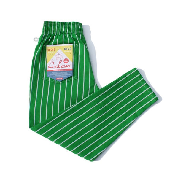 Cookman Chef Pants - Pinstripe Light Green