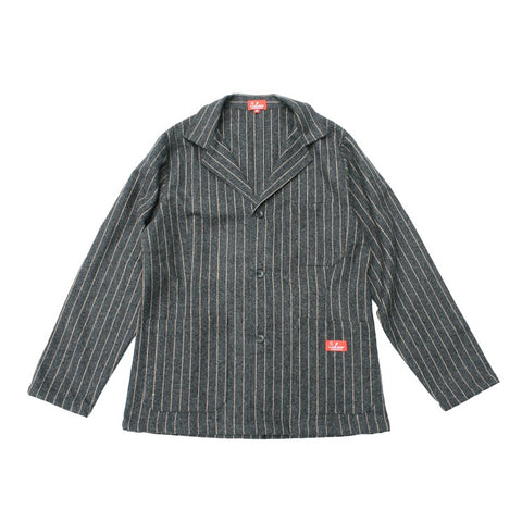 Cookman Lab Jacket - Wool mix Stripe Gray
