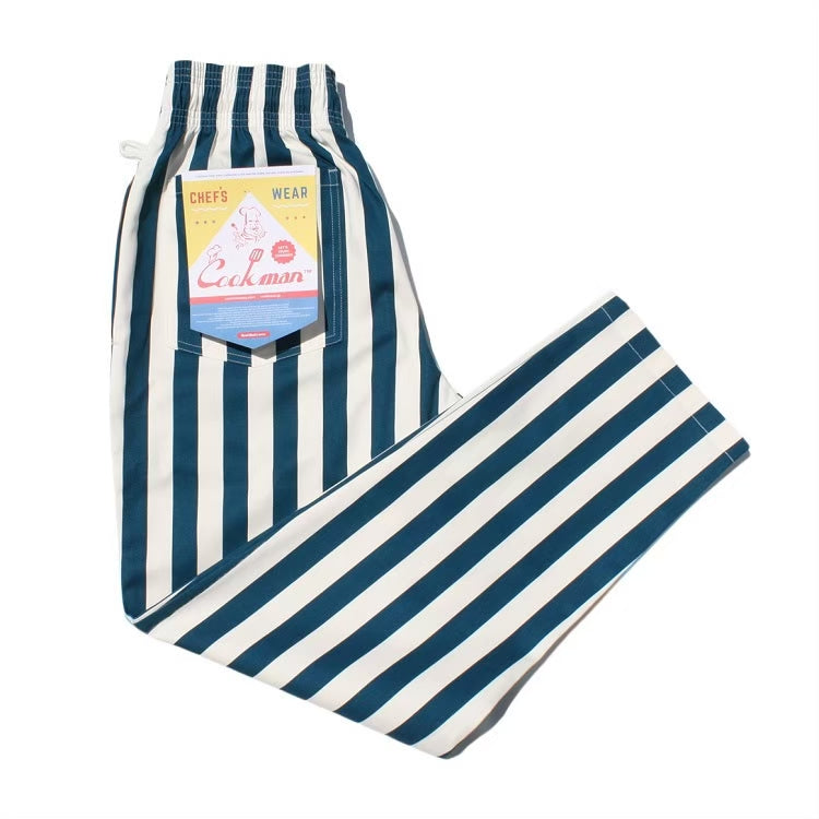 Cookman Chef Pants - Wide Stripe Navy