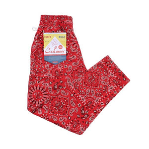Cookman Chef Pants - Paisley : Red