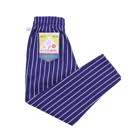 Cookman Chef Pants - Pinstripe Purple