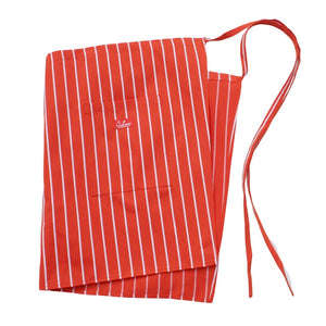 Cookman Waist Apron - Pinstripe Orange