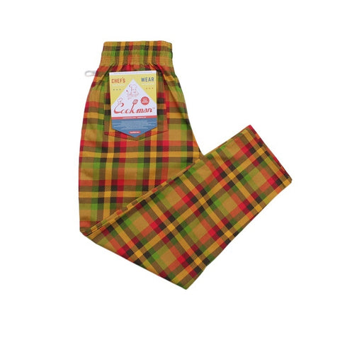 Cookman Chef Pants - Burger Plaid