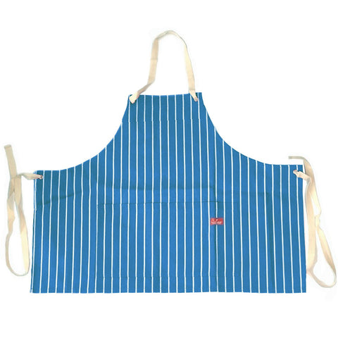 Cookman Mini Apron - Pinstripe Light Blue