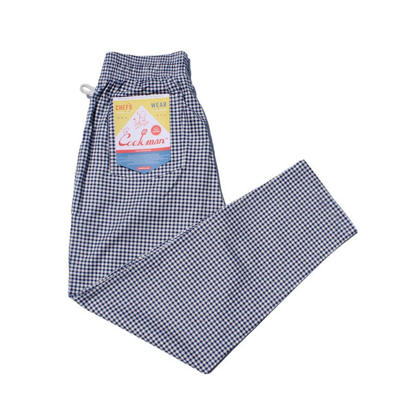 Cookman Chef Pants - Gingham Navy