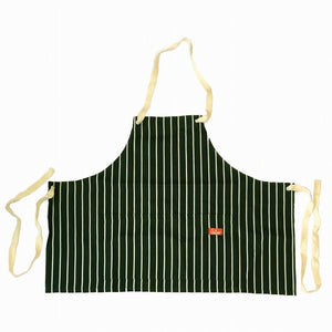 Cookman Mini Apron - Pinstripe Dark Green