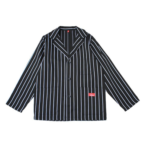 Cookman Lab Jacket - Pinstripe Black
