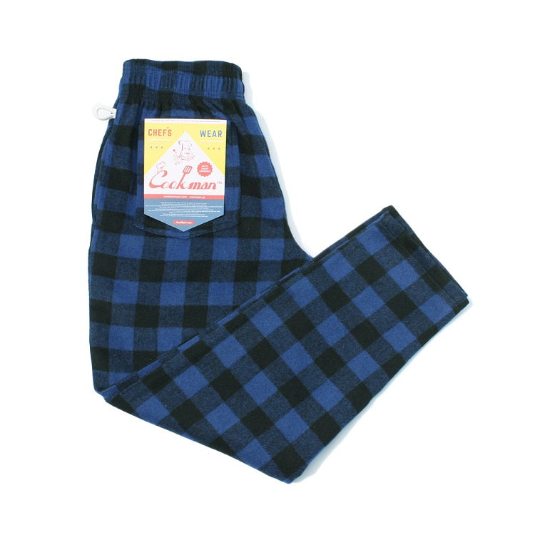 Cookman Chef Pants - Nel Buffalo Check Blue