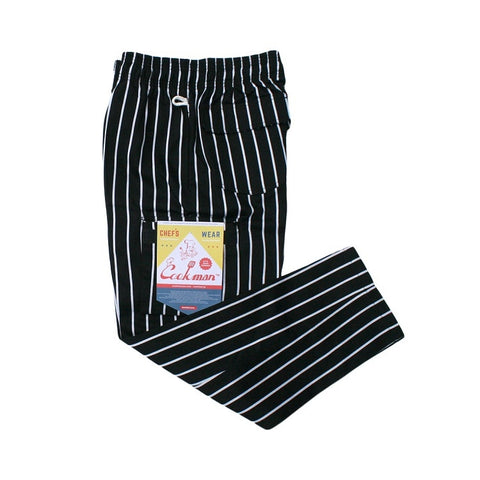 Cookman Chef Cargo Pants - Pinstripe Black