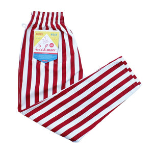 Cookman Chef Pants - Wide Stripe : Red