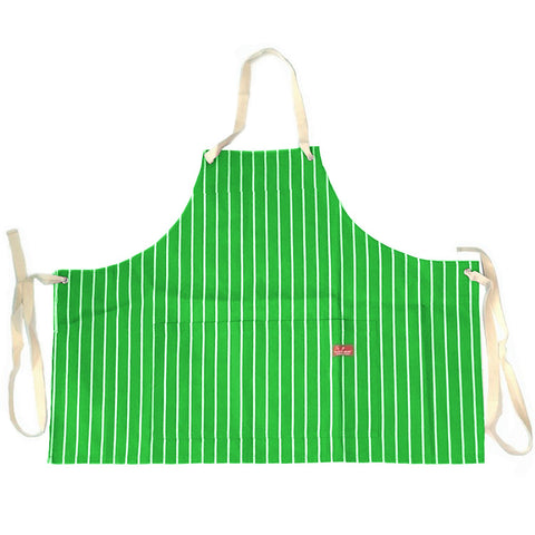 Cookman Mini Apron - Pinstripe Green