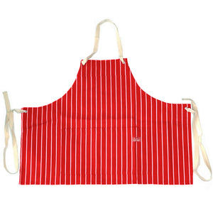 Cookman Mini Apron - Pinstripe Red