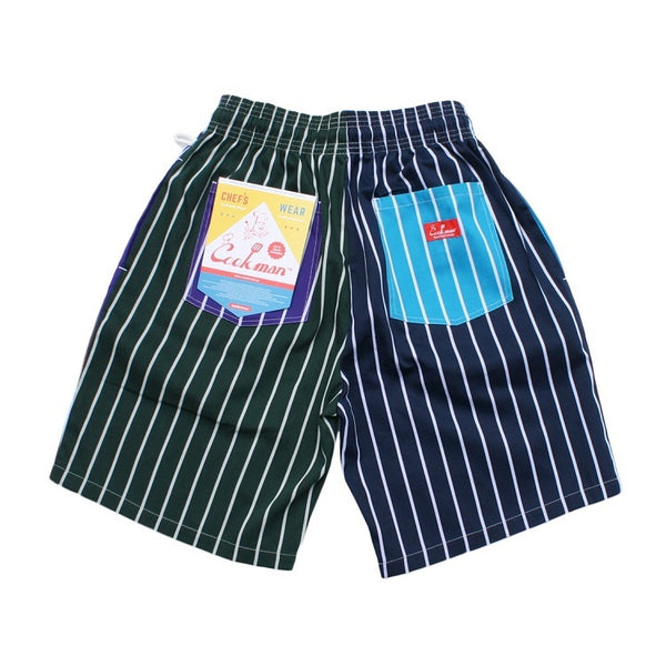 Cookman Chef Short Pants - Crazy : Stripes Cold