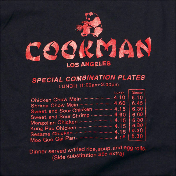 Cookman T-shirts - Chinese menu - Black