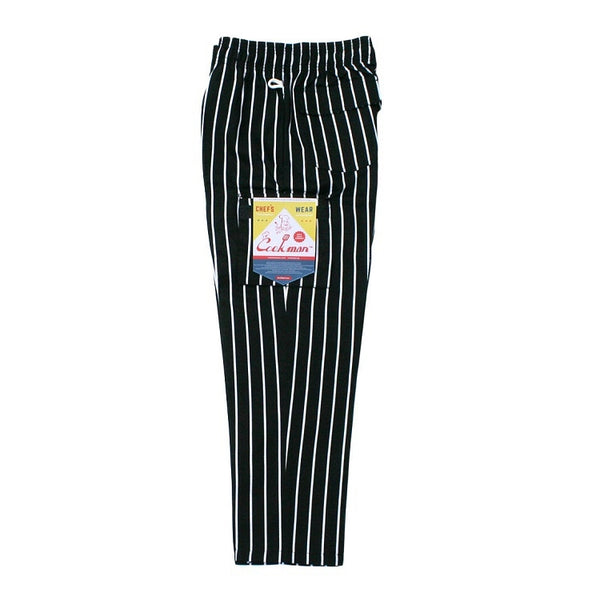 Chef Cargo Pants - Pinstripe Black