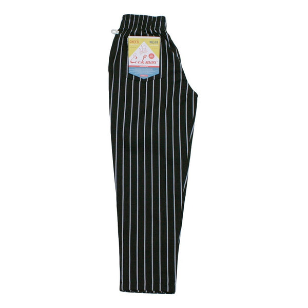Cookman Chef Pants - Pinstripe BLACK